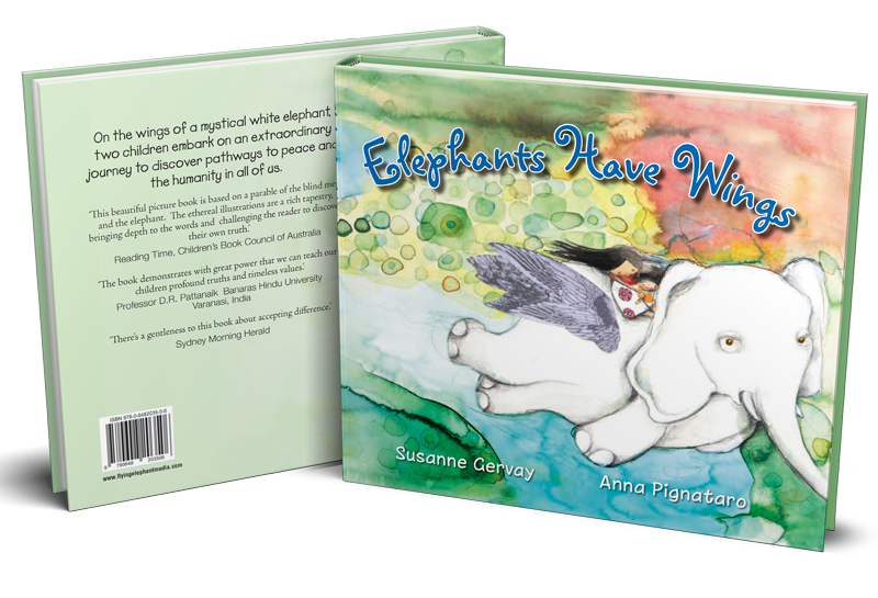 Elephants Have Wings Book Front and Back Cover